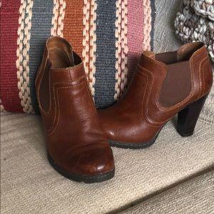 BOC Cognac Leather Booties